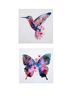 set-of-2-butterfly-amp-hummingbird-pictures
