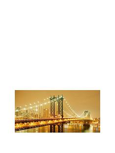 arthouse-golden-brooklyn-bridge-photographic-canvasnbspwall-art