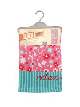 lifes-a-beach-relax-beach-towel