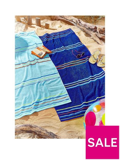catherine-lansfield-rainbow-beach-towel-pair-blue-amp-aqua