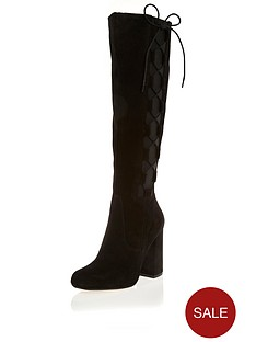 river-island-suede-lace-side-knee-high-boots