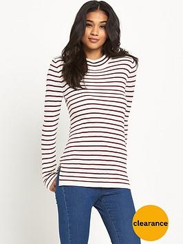vila-taynbspnew-stripe-funnel-neck-top