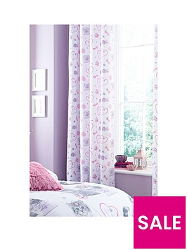 catherine-lansfield-pretty-kitty-lined-curtains