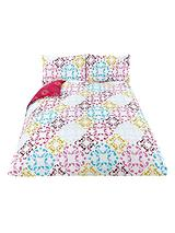 Fearne Cotton Muse Printed Design Duvet Set - Multi