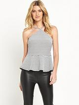 Strappy Peplum Top