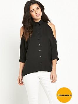ax-paris-cold-shoulder-dip-back-shirt