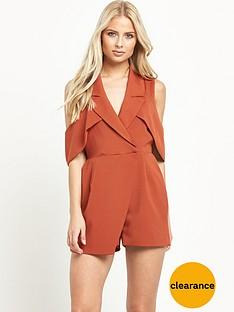lavish-alice-open-sleeve-deep-plunge-tailored-playsuit