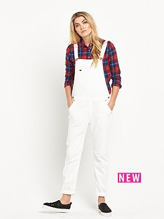 lee-logger-dungarees-white