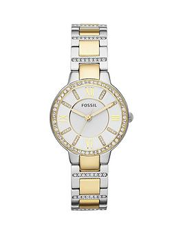 fossil-virginia-stainless-steel-bracelet-gold-ladies-watch