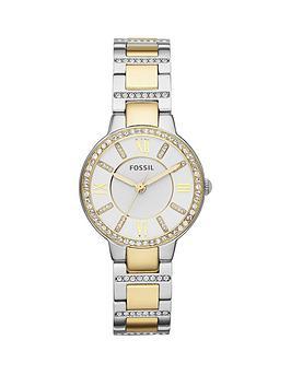 fossil-virginia-stainless-steel-bracelet-gold-ladies-watch