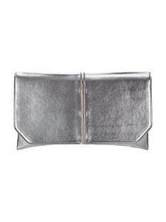 v-by-very-metal-bar-detail-fold-top-clutch-bag
