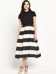 v-by-very-double-layered-stripe-prom-dress