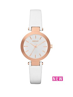 dkny-dkny-fashion-stanhope-analogue-white-leather-strap-ladies-watch