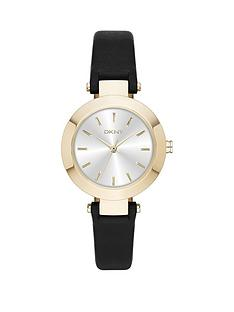 dkny-fashion-stanhope-analogue-black-leather-strap-ladies-watch