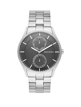 skagen-holstnbspsilver-stainless-steel-bracelet-mensnbspwatch