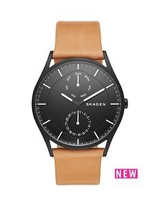 skagen-holstnbsplight-brown-leather-strap-mensnbspwatch