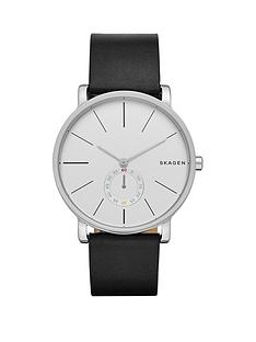 skagen-skagen-hagen-leather-black-strap-gents-watch