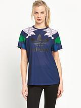 Floral Engraving Boyfriend T-shirt