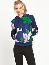 Floral Engraving Hooded Top