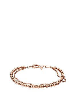 fossil-rose-gold-tone-multi-layered-bead-bracel