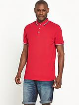 Short Sleeve Solid Tipped Polo
