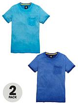 Oil Wash T-Shirts (2 Pack)