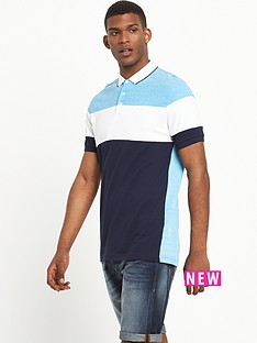 v-by-very-short-sleeve-colout-block-polo