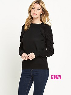 v-by-very-fringe-shoulder-detail-turtle-neck-jumper