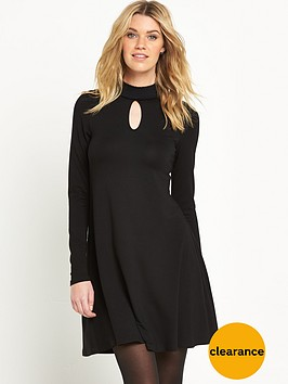v-by-very-shirred-neck-jersey-dress
