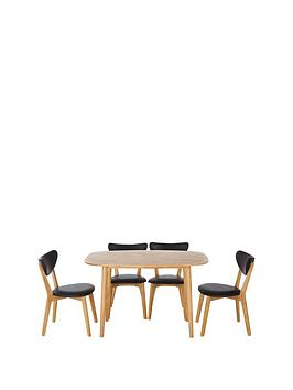 scandinbsp120-cm-diningnbsptable-4-chairs