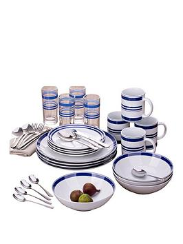 bistro-stripe-36-piece-blue-dinner-set
