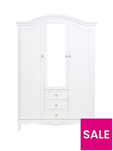 Arabelle 3 Door, 3 Drawer Mirrored Wardrobe