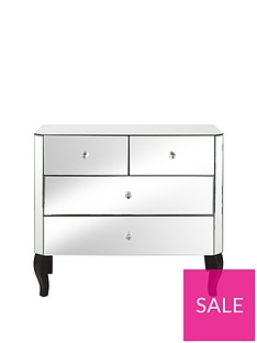 Vegas Mirrored 2 + 2 Drawer Chest