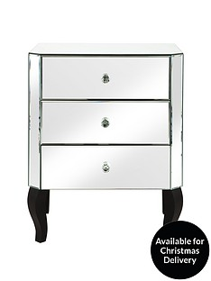 Vegas Mirrored 3 Drawer Chest