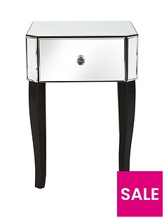 Vegas Mirrored 1-Drawer Bedside Cabinet