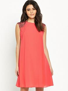 little-mistress-embellished-sleevenbspswing-dress