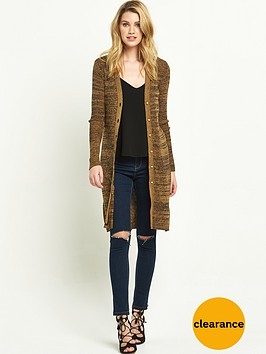 v-by-very-rib-midi-button-cardigan