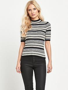 miss-selfridge-stripe-side-split-top