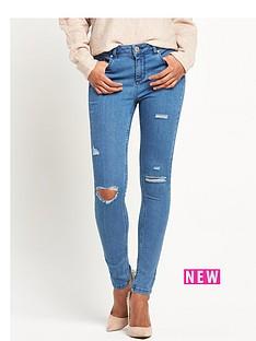 miss-selfridge-lizzie-pretty-blue-multi-rip-skinny-jeans
