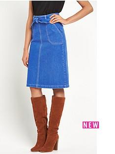 miss-selfridge-miss-selfridge-bright-blue-midi-skirt-with-self-tie-belt
