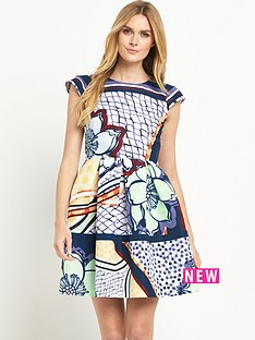 ted-baker-ted-baker-tribal-print-cap-sleeve-dress