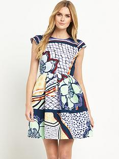 ted-baker-tribal-print-cap-sleeve-dress