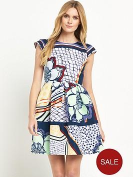 ted-baker-tribal-print-cap-sleeve-dress