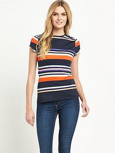 ted-baker-stripe-short-sleeve-top
