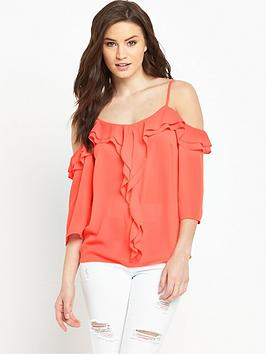 v-by-very-cold-shoulder-ruffle-strappy-blousenbsp