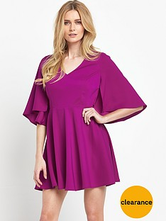 v-by-very-satin-back-crepe-cape-dress
