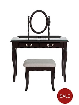 new-elyseenbspdressing-table-mirror-and-stool-set-plain-front