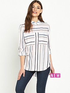 miss-selfridge-variatednbspstripe-shirt