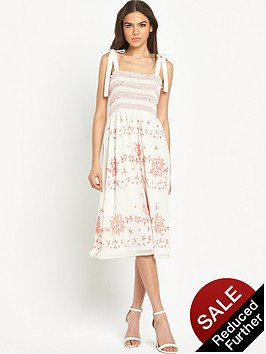 miss-selfridge-shirred-smock-dress-with-bow-strapsnbsp