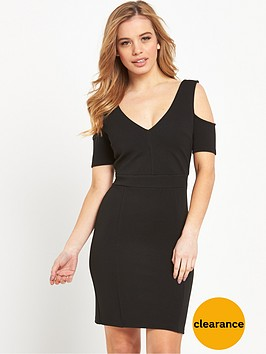 miss-selfridge-cold-shoulder-rib-bodycon-dressnbsp